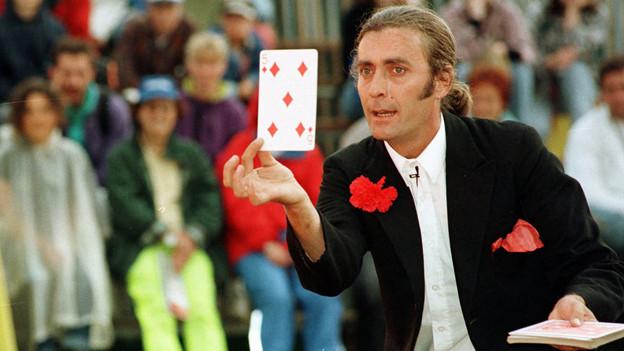 Ein Zauberer am Paleo-Festival in Nyon.
