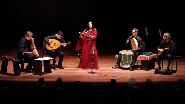 Die Gruppe Hespèrion XXI auf einem Konzert, 2009.