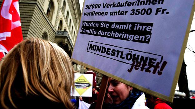 Gleich drei Initiativen fordern mehr Gerechtigkeit vor allem am unteren Ende der Lohnskala