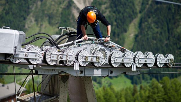 Wahrlich typisch Schweizerisch: die Berufslehre zum Seilbahn-Mechatroniker.