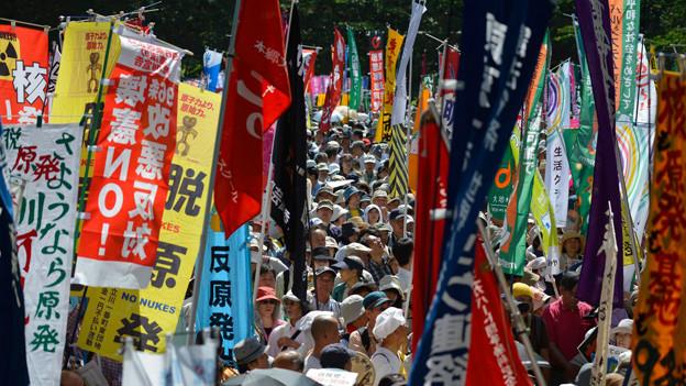 Über 7500 Leute versammelten sich im Juni 2013 in Tokyo gegen die erneute Inbetriebnahme von Atomkraftwerken.