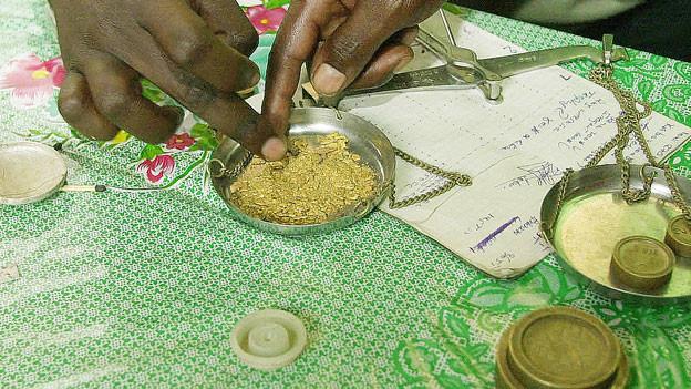 Goldhandel im Kongo