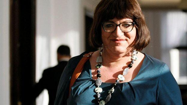 Anna Grodzka, die erste transsexuelle Parlamentarierin in Polen.