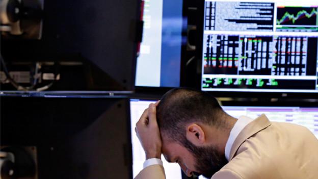 Spezialist arbeitet am New York Stock Exchange.