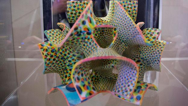Essen bestehend aus Zucker und Farbe aus dem 3D-Drucke