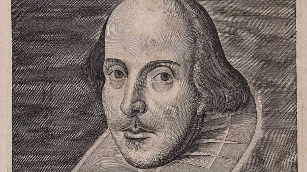 Titel der ersten Shakespeare-Folio-Ausgabe von 1623.