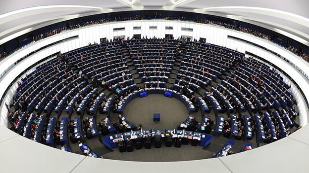Der Saal des Europaparlaments