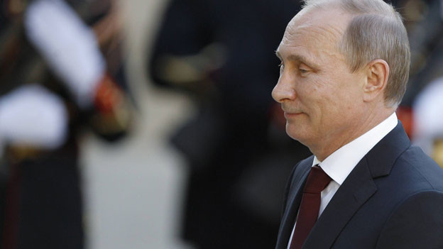 Putin im Profil.