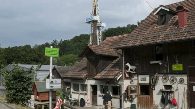 Geothermiebohrung in St. Gallen.
