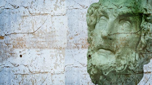 Ein Kopf eines antiken Philosophen
