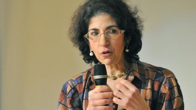 Ein Portrait von Fabiola Gianotti.