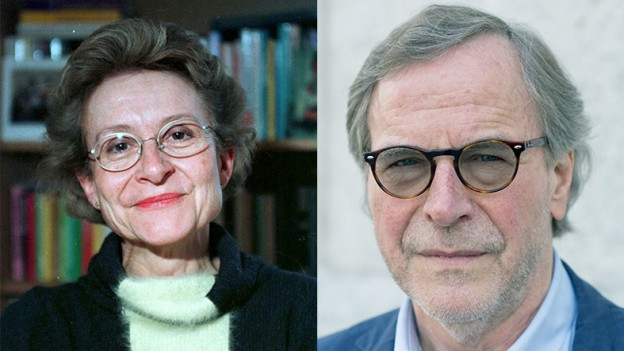 Porträts Käthi La Roche und Klaus Merz.