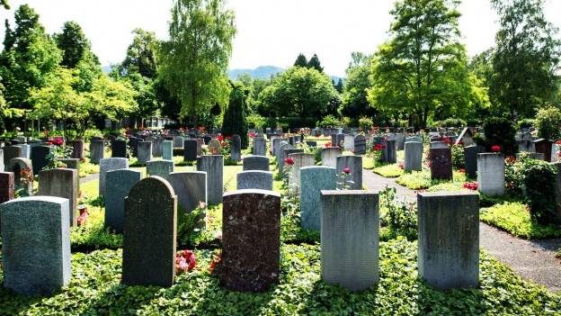 Foto eines Friedhofes