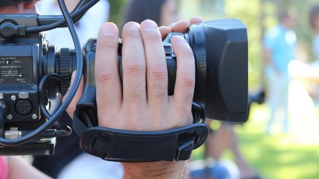 Nahaufnahme einer Videokamera