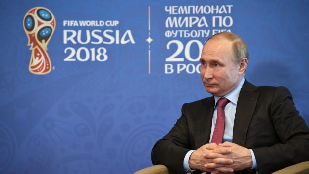 Vladimir Putin während einem Treffen mit dem FIFA Präsidenten