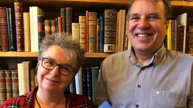 Bestsellerautorin Blanca Imboden und Buchantiquar Martin von Matt