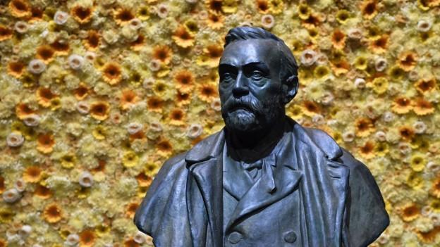 Eine Büste von Alfred Nobel