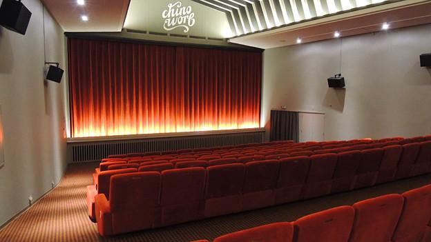 Der sanft renovierte Kinosaal in Worb bei Bern.