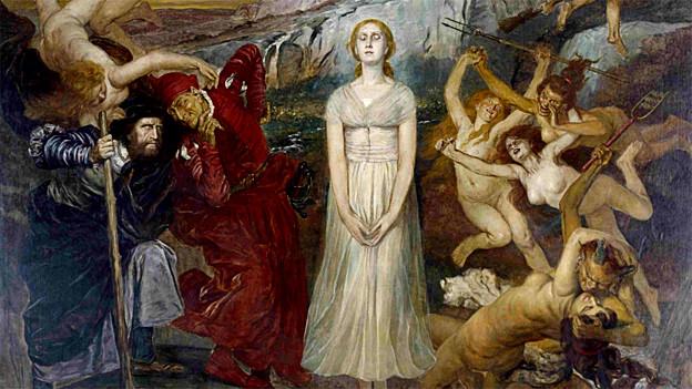 Fritz Roeber: Walpurgisnachtsszene aus «Faust», etwa 1910.