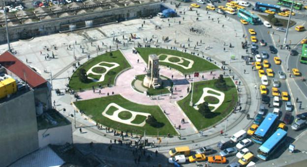 Der westliche Teil des Taksim-Platzes mit dem «Denkmal der Republik».