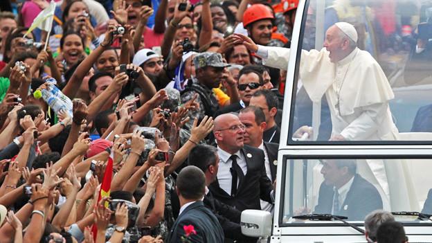 Ankunft von Papst Franziskus in Rio de Janeiro.