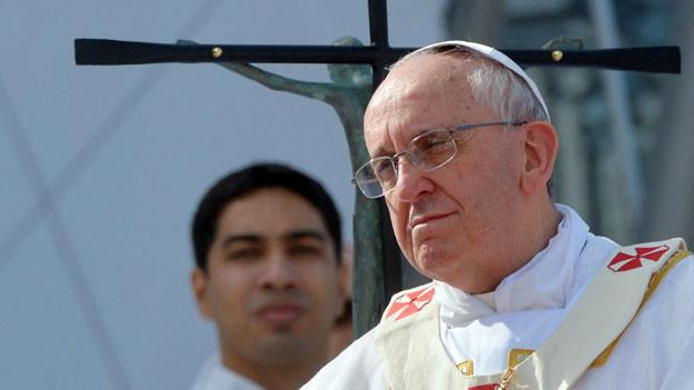 Papst Franziskus während einer Messe an der Copacabana von Rio de Janeiro, 28. Juli 2013.