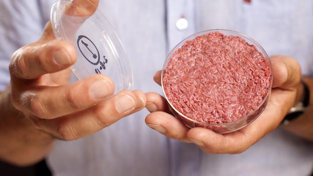 Geschmackssache: Ein Burger aus dem Forschungslabor.