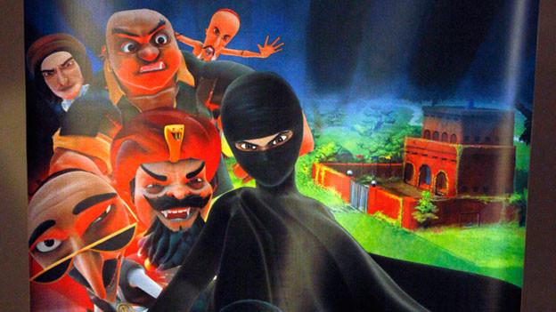 Die Superheldin kämpft in einer Burka für Gerechtigkeit.
