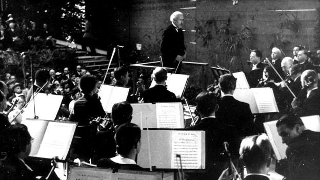 Arturo Toscanini dirigiert in Tribschen, 25. August 1938, Luzern.