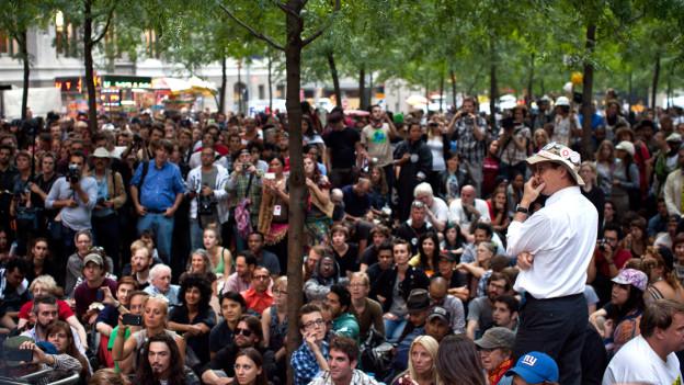 Demonstranten der Occupy-Bewegung im September 2012.
