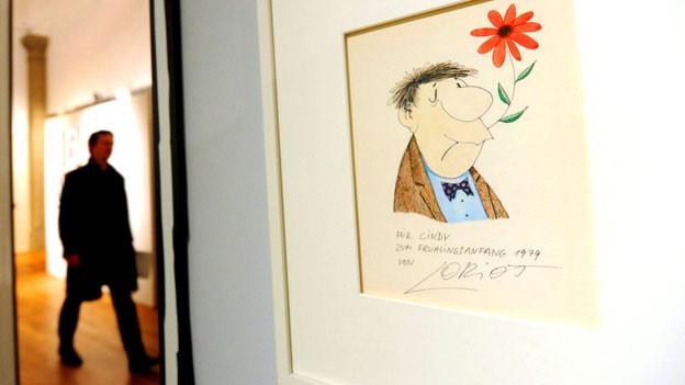 Die Ausstellung «Loriot - Spätlese» in München zeigt noch unbekannte Zeichnungen von Loriot.