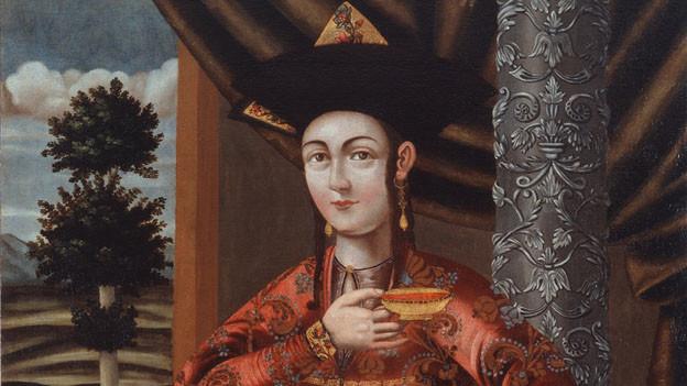 Junge Frau in georgischer Tracht, Iran 17. Jahrhundert.
