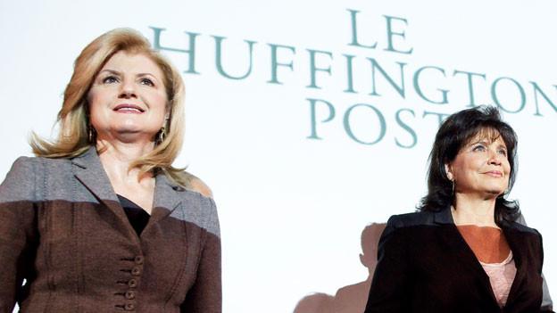 Arianna Huffington bei der Eröffnung der französischen «Huff Post»