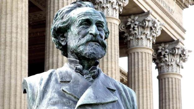 Büste von Verdi in Palermo.