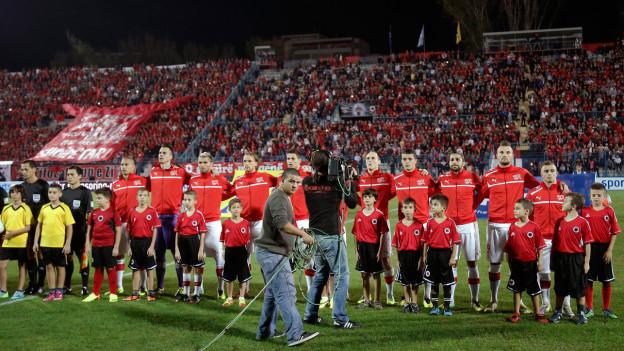 Fussballspiel Albanien–Schweiz am Samstag.
