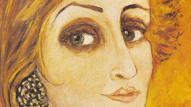 Das Bild zeigt ein Selbstporträt der türkischen Malerin Fahrünnisa Zeid.