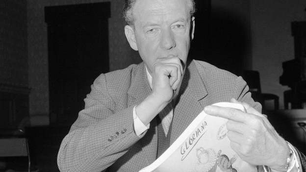 Der Komponist Benjamin Britten im Jahre 1963 in London.