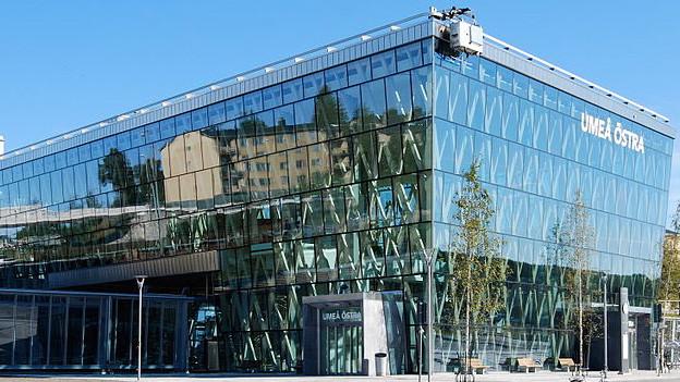 Der Bahnhof der Umeå Östra in Schweden.