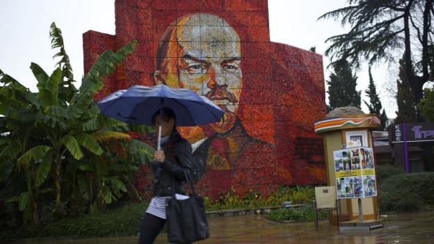 Leninmosaik in Sotschi.