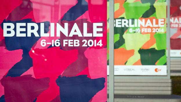 Drei farbige Plakate der Berlinale 2014.