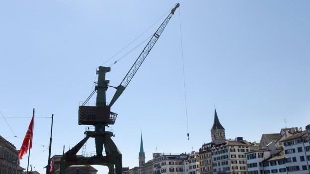 Der Hafenkran in Zürich.