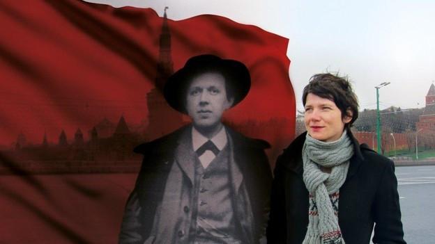 Fotomontage mit Fritz Platten und Kathrin Winzenried.