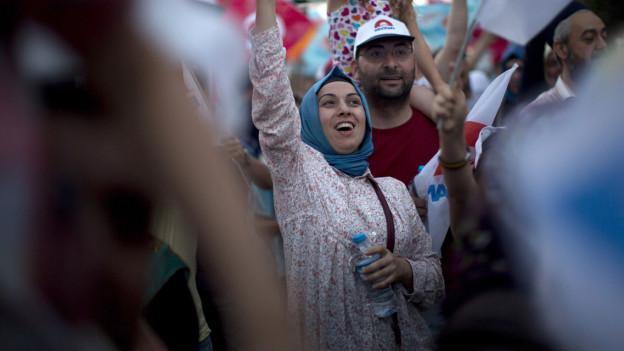Jubel in Istanbul nach der Wahl von Erdogan.