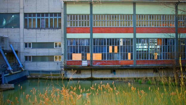 Verlassenes Fabrikgelände in Basel-Land.