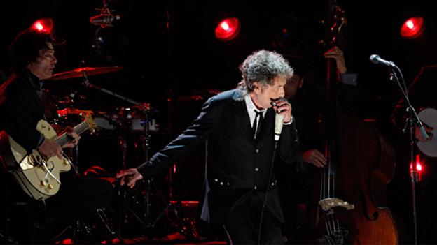 Bob Dylan während einer Show.