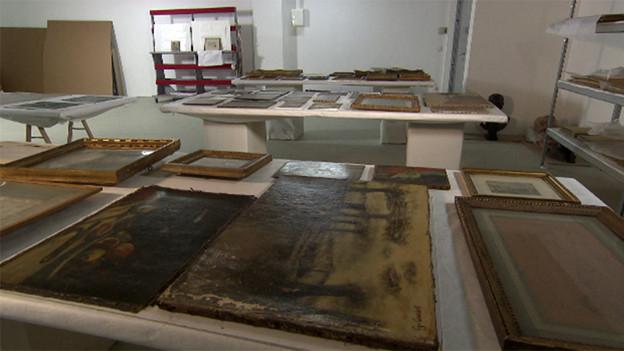 Einige der Meisterwerke der Sammlung Gurlitt, die in Salzburg aufbewahrt wurden.
