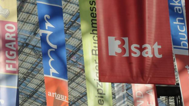 3sat Banner an Messe.
