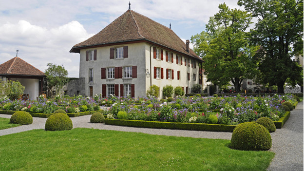 Das Stapferhaus am französischen Garten auf Schloss Lenzburg.