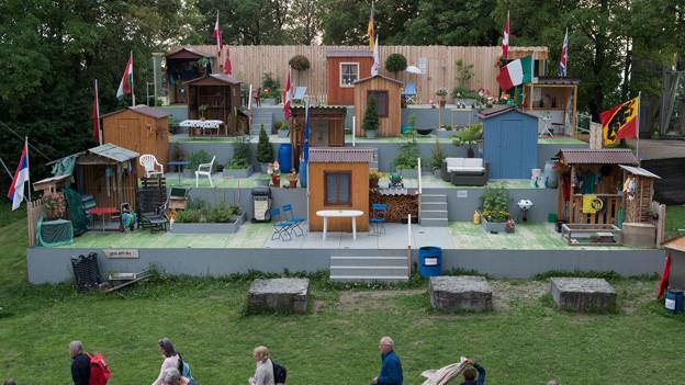 Bühnenbild von «Unser Garten Eden».