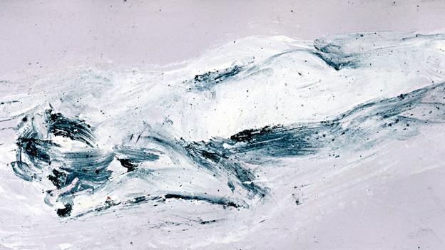 Malerei eines verschneiten Hügels